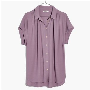 Madewell Central Drapey Shirt - Lilac